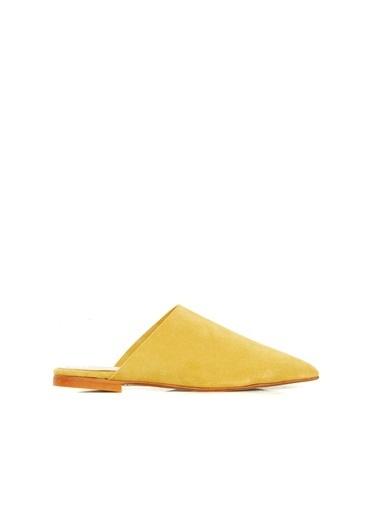 Divarese Divarese 5025321 Kapalı Renkli Kadın Terlik Sarı
